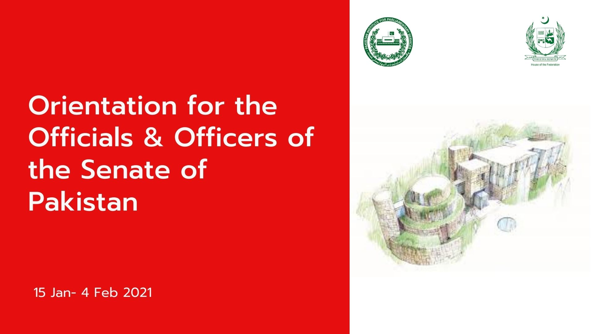 Orientation for Newly Appointed Officers & Officials of the Senate of Pakistan, Module I